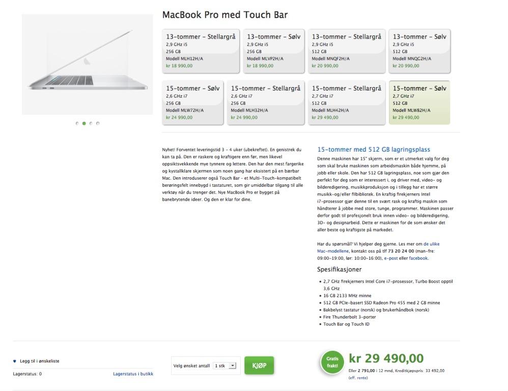 Forum Nye MacBook Pro 13 og 15